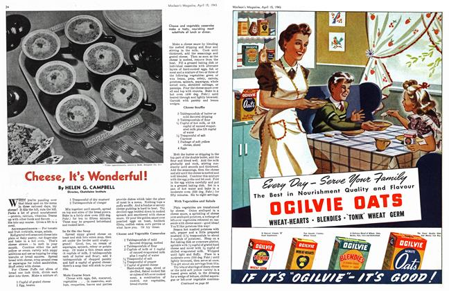 Article Preview: Cheese, It's Wonderful!, April 1943 | Maclean's