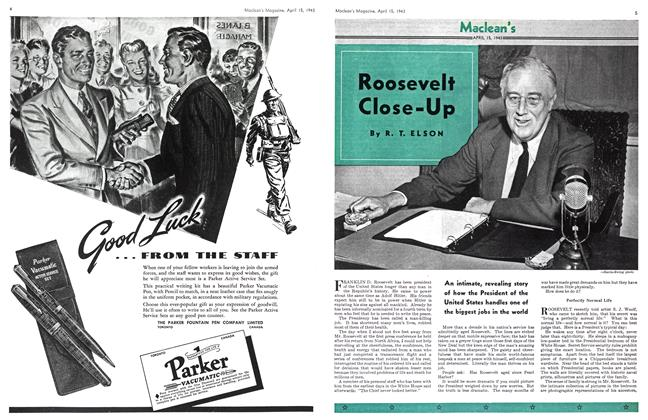 Article Preview: Roosevelt Close-up, April 1943 | Maclean's