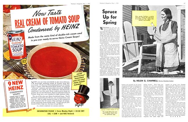 Article Preview: Spruce Up for Spring, May 1943 | Maclean's