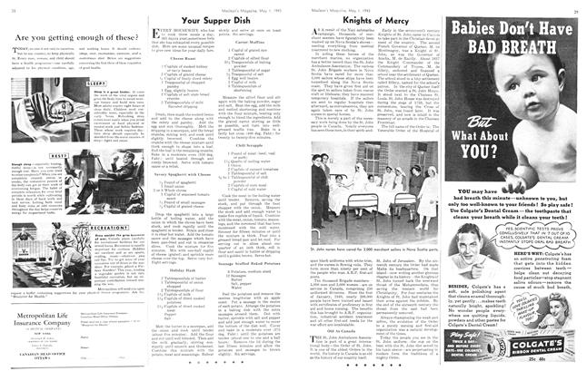 Article Preview: Knights of Mercy, May 1943 | Maclean's
