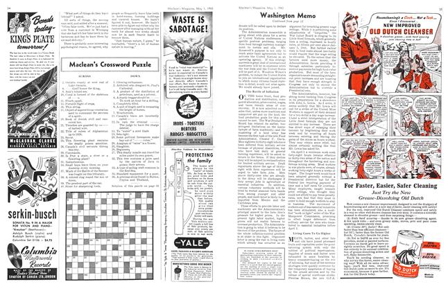 Article Preview: Maclean's Crossword Puzzle, May 1943 | Maclean's