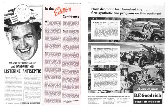 Article Preview: In the Editor's Confidence, May 1943 | Maclean's