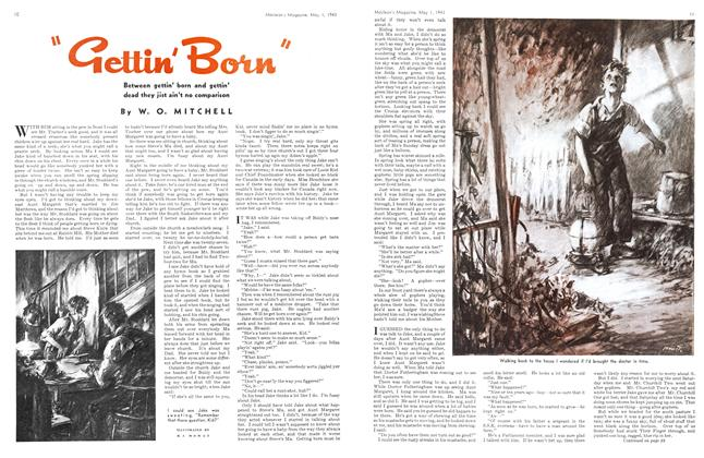 "Article Preview: ""Gettin' Born"", May 1943 