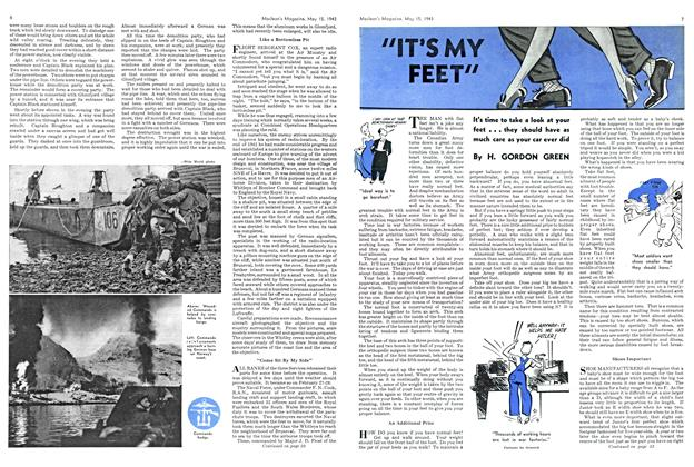 "Article Preview: ""IT'S MY FEET"", May 1943 