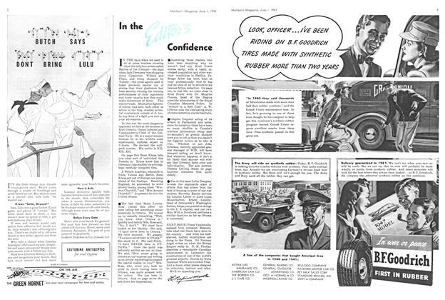 Article Preview: In the Editor's Confidence, June 1943 | Maclean's