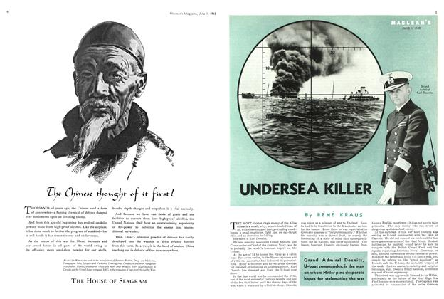 Article Preview: UNDERSEA KILLER, June 1943 | Maclean's