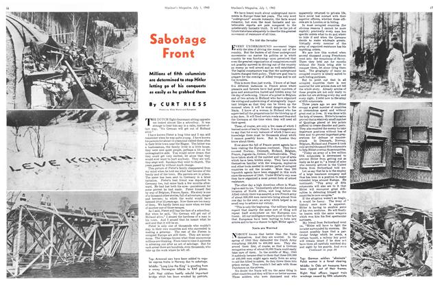 Article Preview: Sabotage Front, July 1943 | Maclean's
