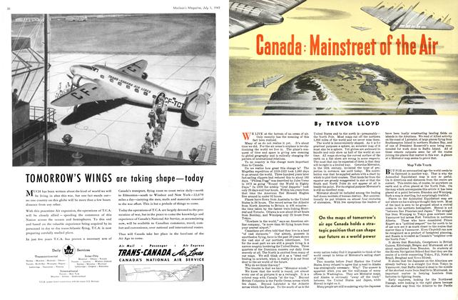 Article Preview: Canada: Mainstreet of the Air, July 1943 | Maclean's