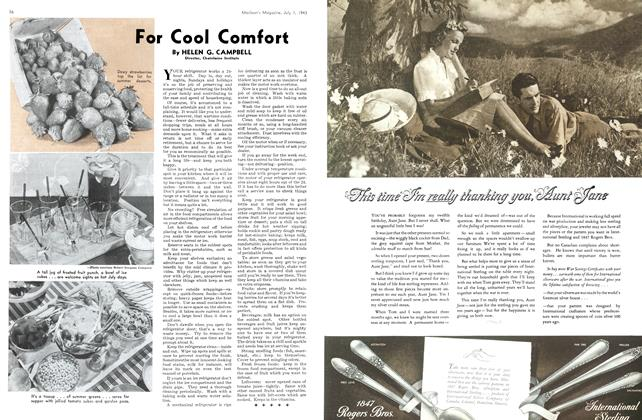 Article Preview: For Cool Comfort, July 1943 | Maclean's