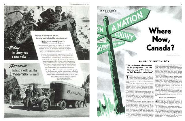 Article Preview: Where Now, Canada?, July 1943 | Maclean's