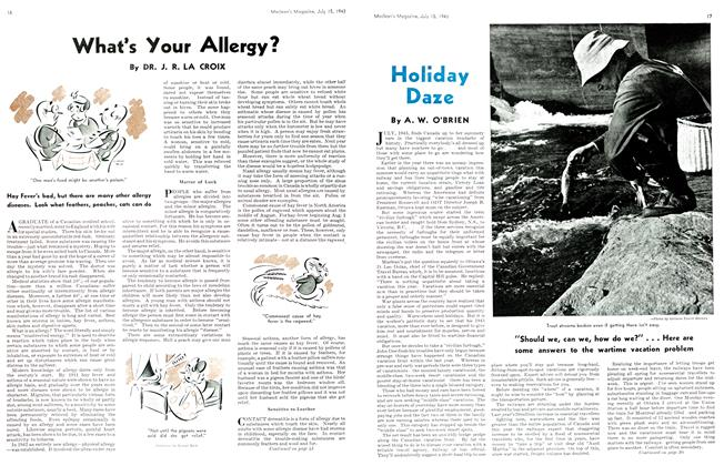 Article Preview: Holiday Daze, July 1943 | Maclean's