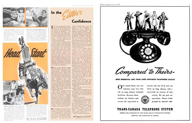 Article Preview: In the Editor's Confidence, July 1943 | Maclean's