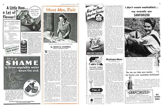 Article Preview: Meet Mrs. Fixit, August 1943 | Maclean's
