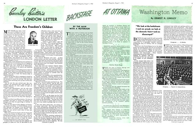 Article Preview: Washington Memo, August 1943 | Maclean's