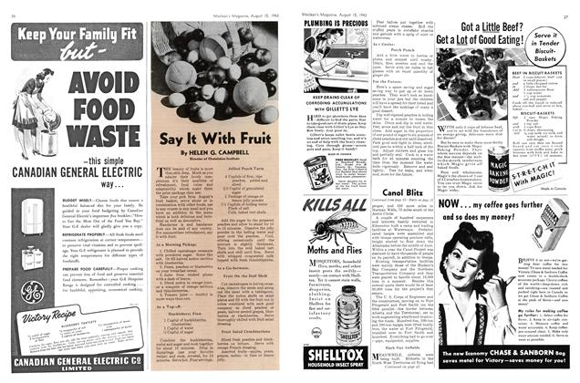 Article Preview: Say It With Fruit, August 1943 | Maclean's