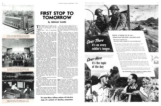 Article Preview: FIRST STOP TO TOMORROW, September 1943   Maclean's
