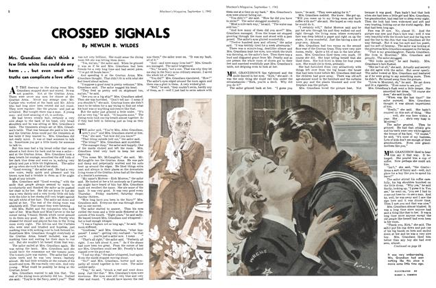 Article Preview: CROSSED SIGNALS, September 1943 | Maclean's