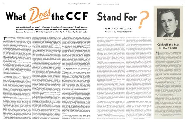 Article Preview: What Does the CCF Stand For?, September 1943 | Maclean's