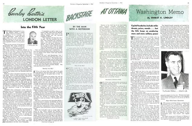 Article Preview: Washington Memo, September 1943   Maclean's