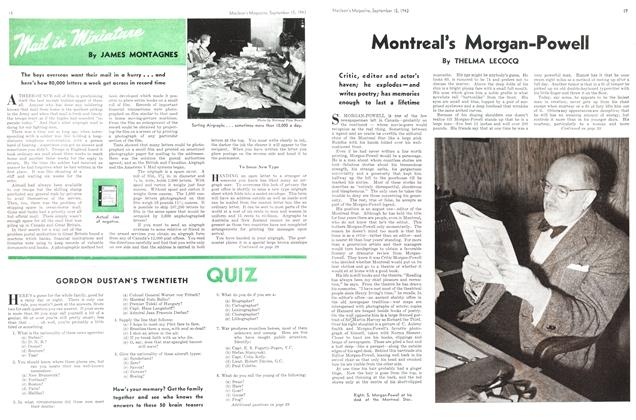 Article Preview: Mail in Miniature, September 1943 | Maclean's