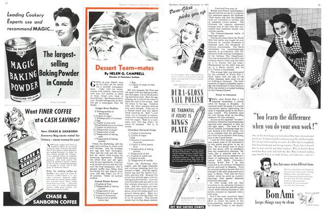Article Preview: Dessert Team-mates, September 1943 | Maclean's