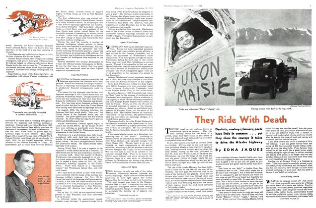 Article Preview: They Ride With Death, September 1943   Maclean's