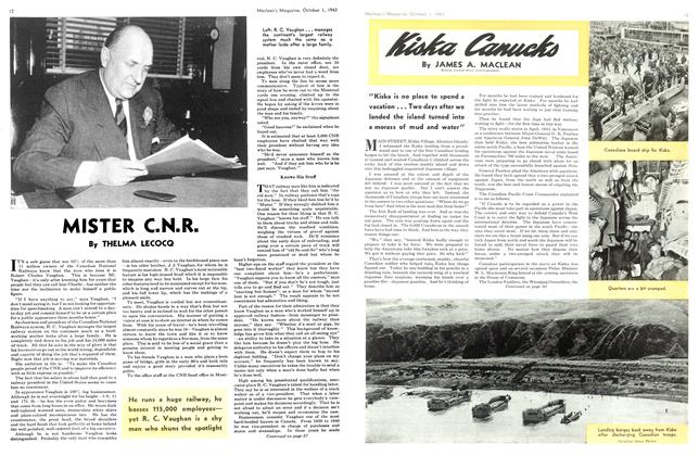 Article Preview: Kiska Canucks, October 1943 | Maclean's