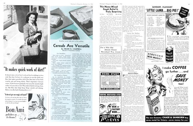 Article Preview: Cereals Are Versatile, October 1943 | Maclean's