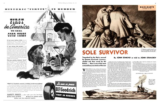 Article Preview: SOLE SURVIVOR, October 1943 | Maclean's