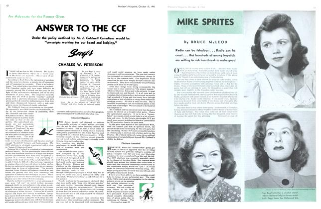 Article Preview: MIKE SPRITES, October 1943 | Maclean's