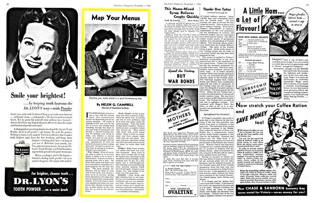 Article Preview: Map Your Menus, November 1943 | Maclean's
