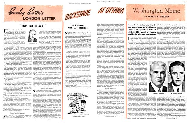 Article Preview: Washington Memo, November 1943 | Maclean's