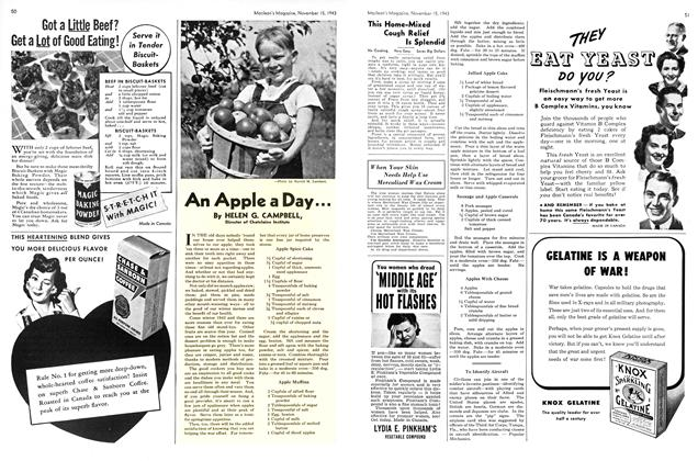 Article Preview: An Apple a Day..., November 1943 | Maclean's