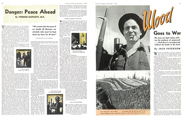 Article Preview: Wood Goes to War, December 1943 | Maclean's