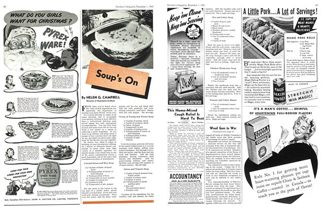 Article Preview: Soup's On, December 1943 | Maclean's