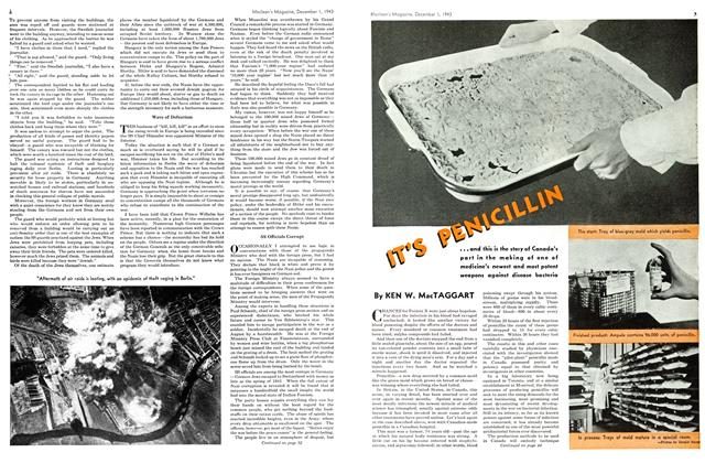 Article Preview: IT'S PENICILLIN, December 1943 | Maclean's