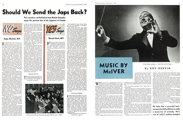 Article Preview: MUSIC By McIVER, December 1943 | Maclean's