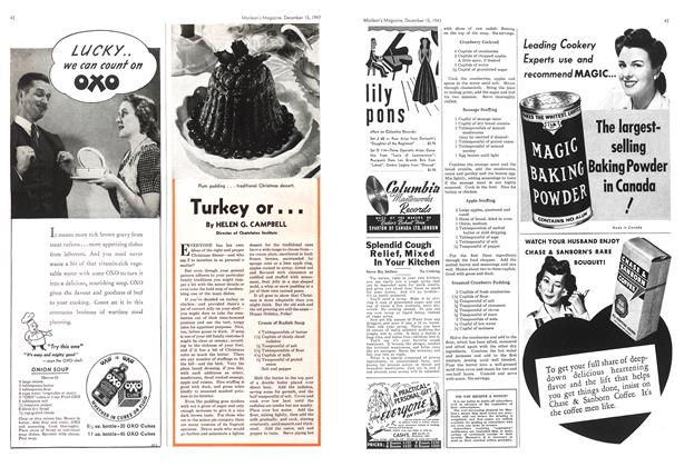 Article Preview: Turkey or..., December 1943 | Maclean's