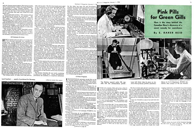 Article Preview: Pink Pills for Green Gills, January 1944 | Maclean's