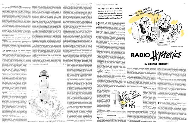 Article Preview: RADIO Hysterics, January 1944 | Maclean's