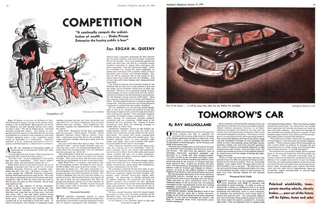 Article Preview: TOMORROW'S CAR, January 1944 | Maclean's
