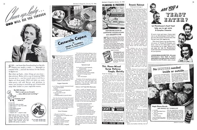 Article Preview: Casserole Capers, January 1944 | Maclean's