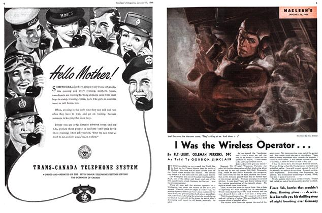 Article Preview: I Was the Wireless Operator. . ., January 1944 | Maclean's