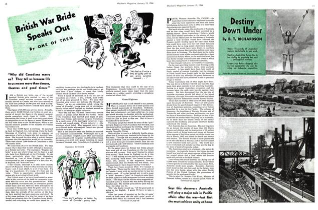 Article Preview: British War Bride Speaks Out, January 1944 | Maclean's