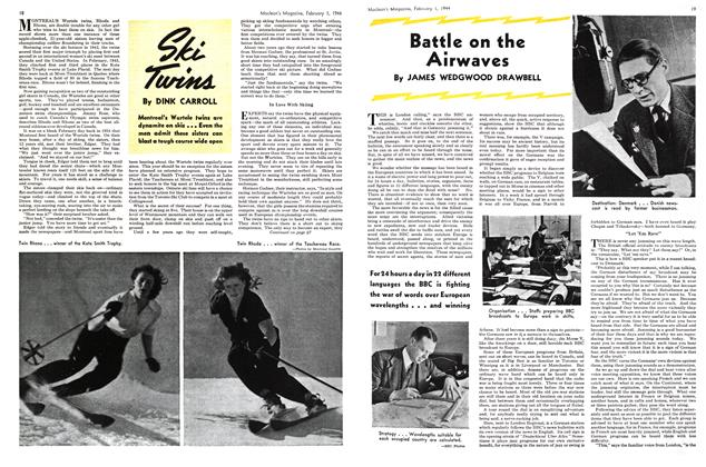 Article Preview: Battle on the Airwaves, February 1944 | Maclean's