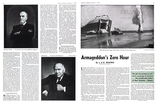Article Preview: Armageddon's Zero Hour, February 1944 | Maclean's
