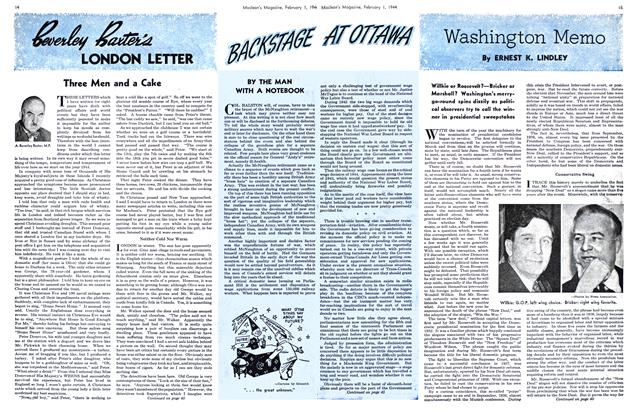 Article Preview: Washington Memo, February 1944 | Maclean's