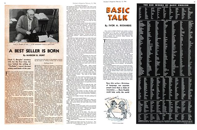 Article Preview: BASIC TALK, February 1944 | Maclean's