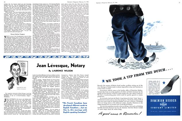 Article Preview: Jean Léevesque, Notary, February 1944 | Maclean's