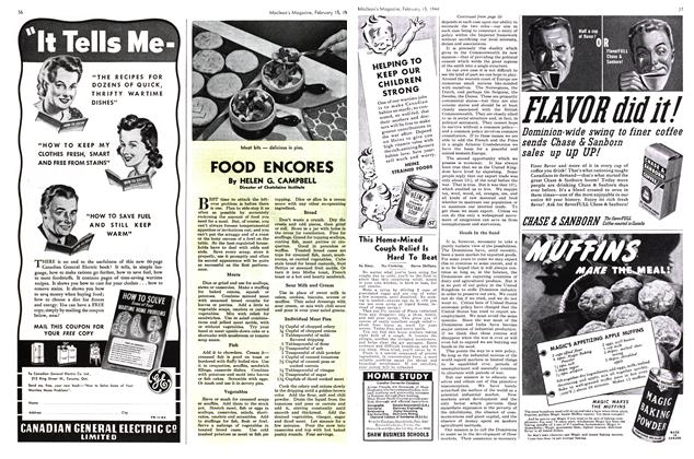 Article Preview: FOOD ENCORES, February 1944 | Maclean's